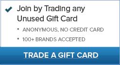 Trade major brand gift card