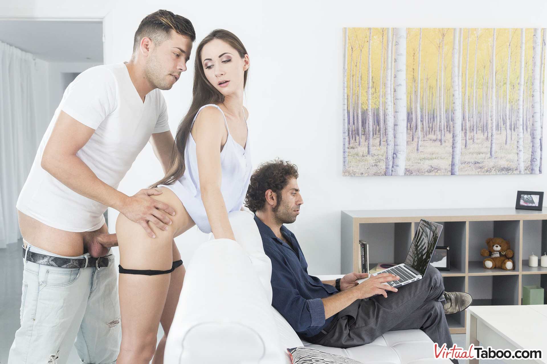 Risky Sex In Front Of Daddy