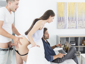 Risky Sex In Front Of Daddy 22