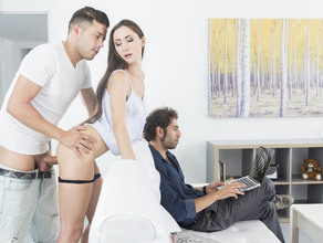 Risky Sex In Front Of Daddy 23